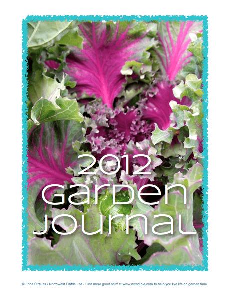 2012 Garden Journal Cover
