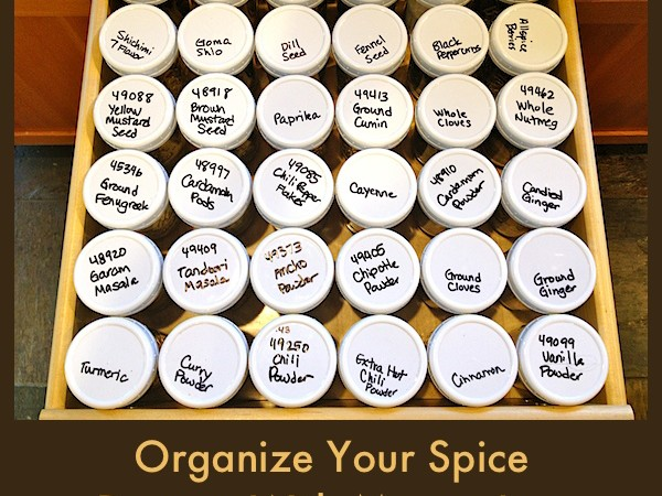 How To Organize Your Spice Drawer With Mason Jars