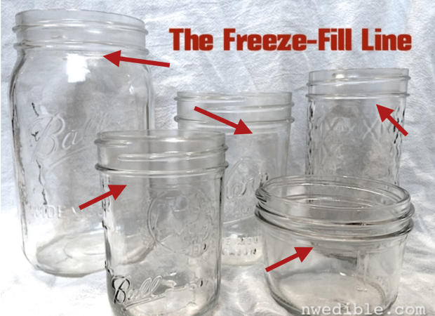 The Freeze-Fill Line (How To Freeze Food In Mason Jars)