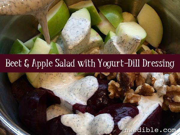 Beet and Apple Salad with Yogurt-Dill Dressing