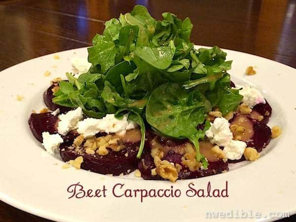 Beet Carpaccio with Goat Cheese and Walnuts