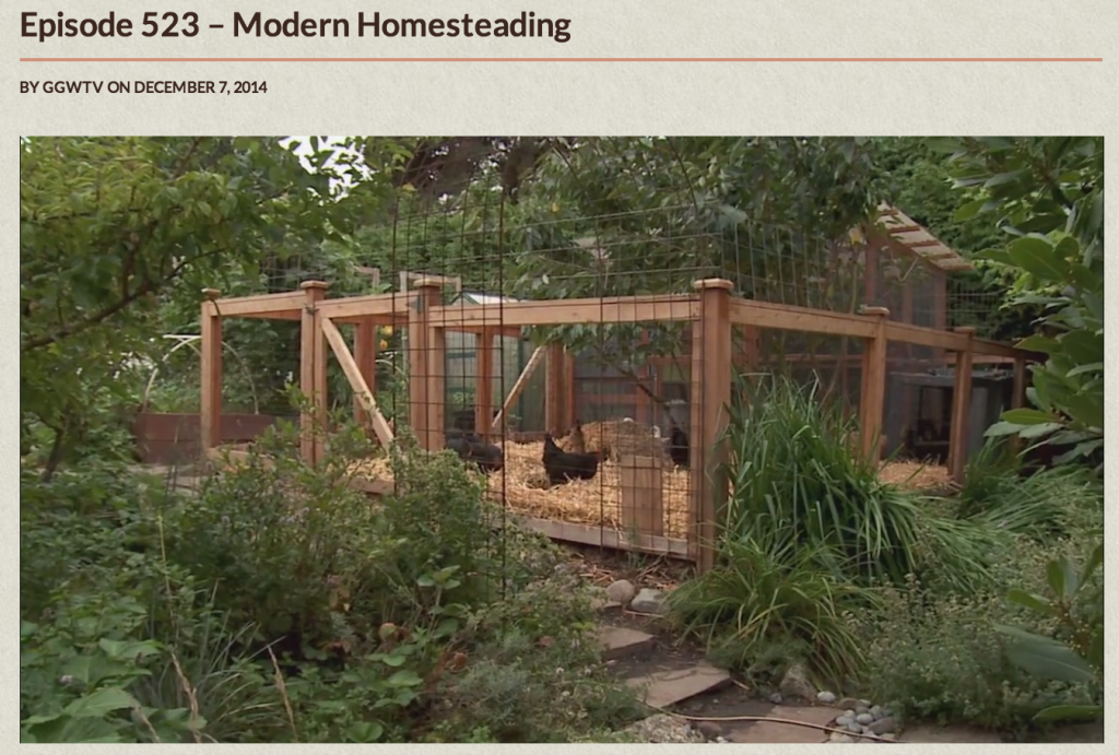 That time they let me on tv modern homesteading on for Modern homesteading