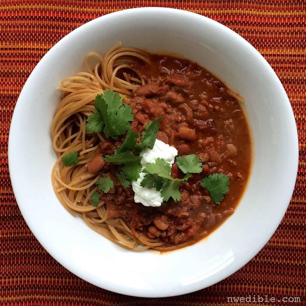 spaghetti-chili