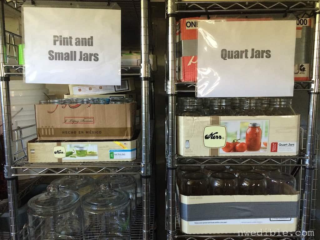 Canning Jar Organzation