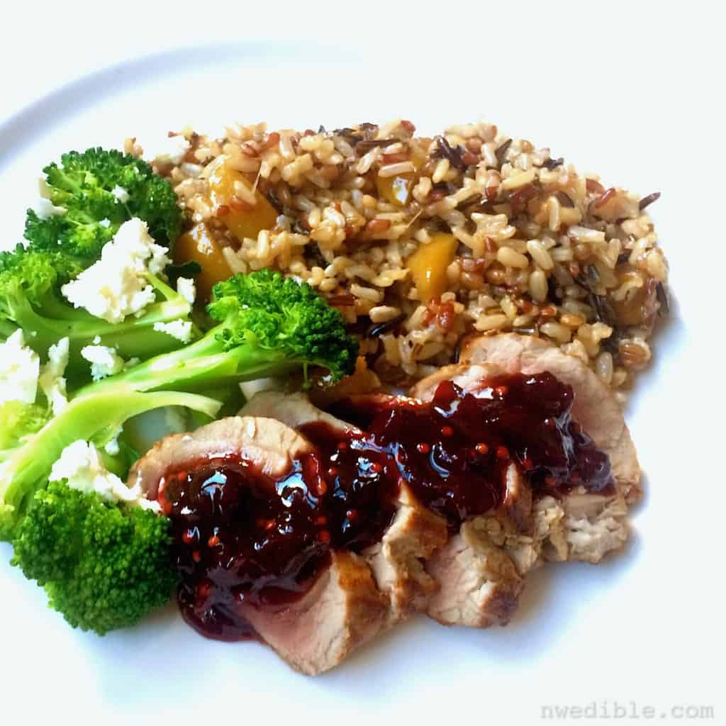 Pork with Cherry Chutney