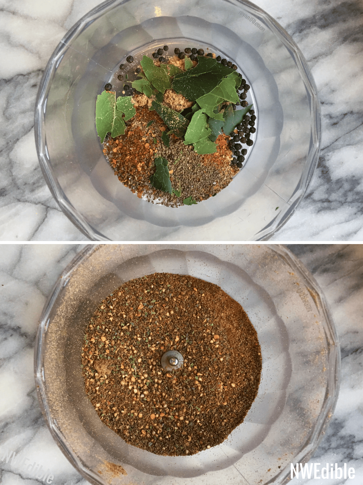 DIY Old Bay Seasoning Before After