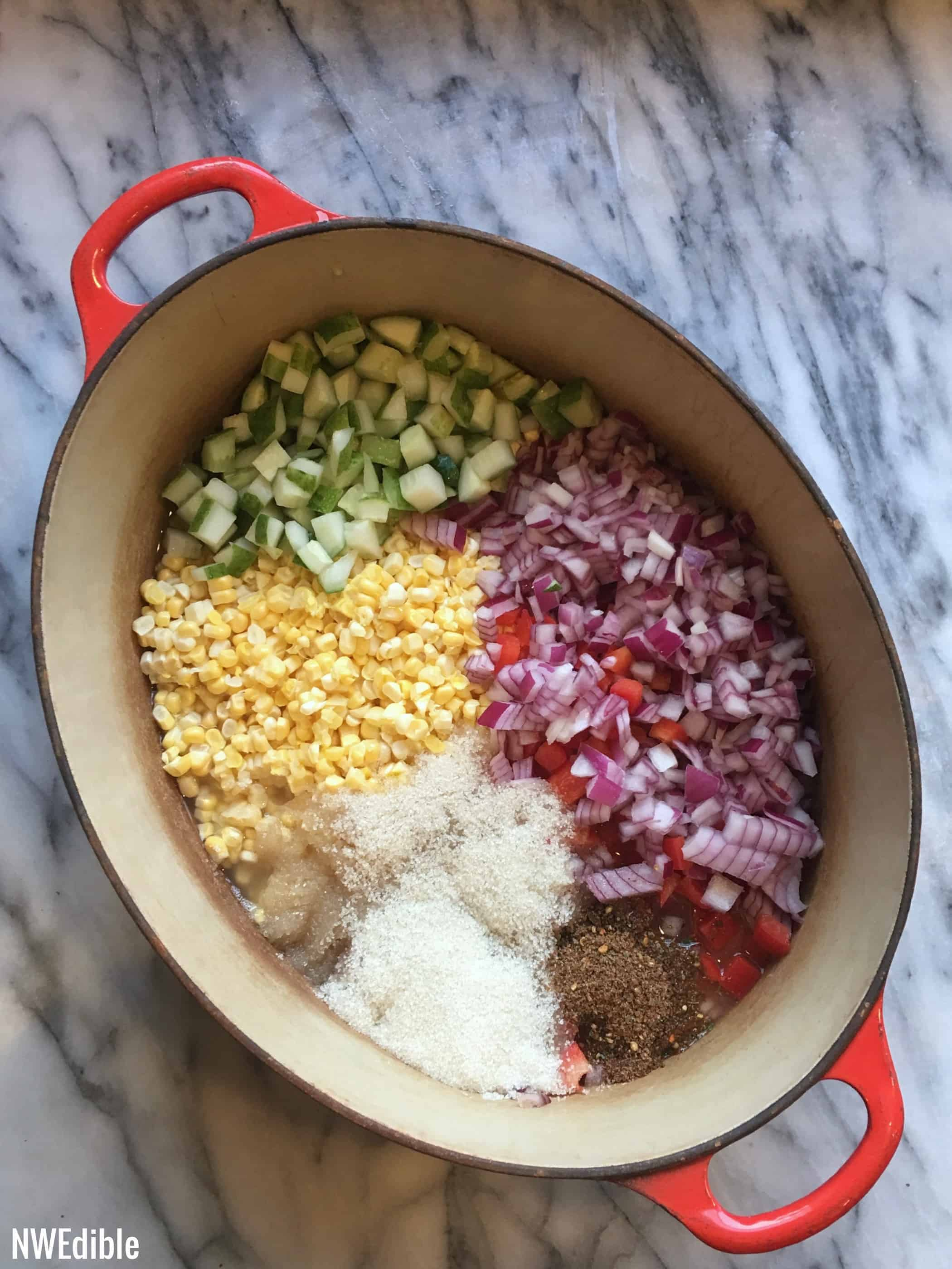 Old Bay Corn Relish Ready to Cook